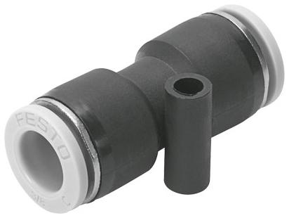 "QB-1/4T-U 1/4"" x 1/4"", Tube Tube, -13.8 to 145 PSI, Polybutylene Terephthalate, Push-In, Straight, Connector"