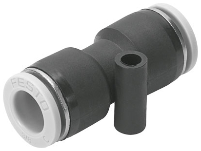 """QB-3/8T-U 3/8"""" x 3/8"""", Tube Tube, -13.8 to 145 PSI, Nickel Plated, Brass, Push-In, Connector"""
