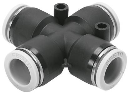 "QBX-1/4T-U 1/4"" x 1/4"", Tube Tube, Polybutylene Terephthalate, Push-In Union, Cross"