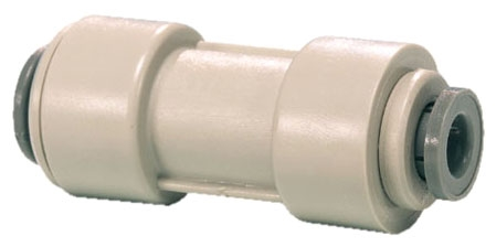 """PI201612S 1/2"""" x 3/8"""", Tube Tube, Gray, Acetal Copolymer, Straight/Reducing, Union Connector"""