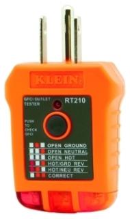 KLN RT210 KLN GFCI RECEPTACLE TESTER