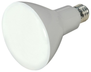 SAT 9.5BR30/LED/4000K/750L/120V/D S9622 9.5W BR30 LED 105' BEAM SPREAD 4000K MED BASE 120V DIMMABLE