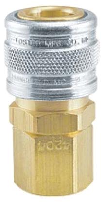 "4204 3/8"" x 3/8"", Socket FPT, Brass/Steel, 1-Way, Manual, Shut-Off Valve"