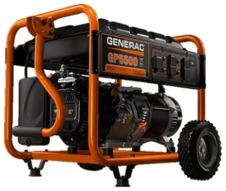 GNR 5939 GENERAC GP5500 WATT PORTABLE 1PH GASOLINE PORTABLE RECOIL START ONLY.
