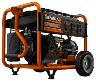 GNR 5941 GNR GP6500E 6500 WATT PORTABLE GENERATOR W. ELECTRIC START