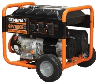 GNR 5943 GNR GENERATOR GP7500E 7500W 1PH GASOLINE PORTABLE ELECTRIC/RECOIL START W/WHEEL KIT