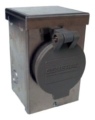 GENERAC 6346 30 AMP NEMA L14-30 POWER INLET BOX WITH FLIP LID