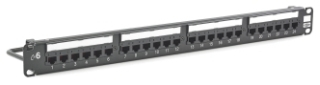 HPW HP624 HPW 24-PORT CAT6 PATCH PANEL W/REAR CABLE MGMT BLACK