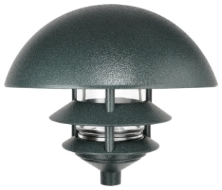 RAB-LLD3VG/F13 LAWN LIGHT DOME 3 TIER 13W CFL 120V NPF + LAMP VERDE GREEN