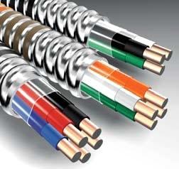 flex STR12-2WGMC 250 BLK-WHT-GRN ARMORLITE MC CABLE 12/2 WG 250' *STRANDED*