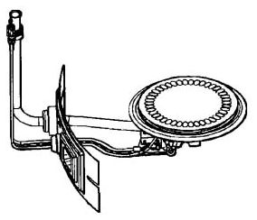 Natural Gas Water Heater Burner Assembly