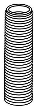 """21/32""""-18 TPI White Plastic Faucet Nipple"""