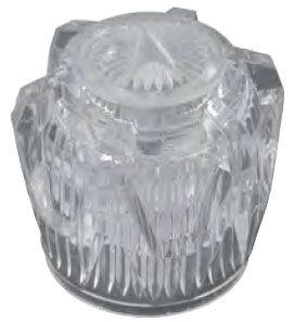 "1-7/8"" x 1-3/4"" Clear Acrylic Knob Faucet Handle"