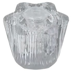 """1-3/4"""" Clear Acrylic Hot/Cold Knob Faucet Handle"""