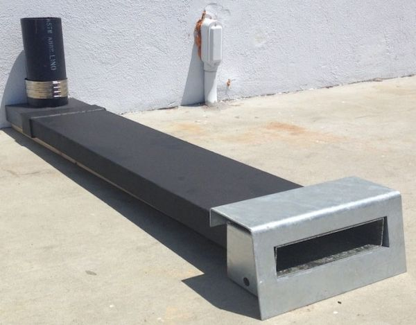 """17"""" x 3"""" Hot Dipped Galvanized Steel No Stamping Drain Curb-O-Let"""