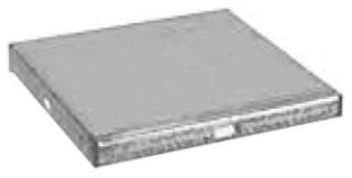 EBOX 6-EC 6X6 WIREWAY ENDCAP GALV