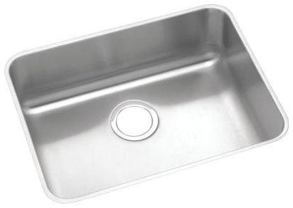 "23-1/2"" x 18-1/4"" x 4-3/8"" Lustrous Highlighted Satin 304 Stainless Steel Single Bowl Undermount Kitchen Sink"