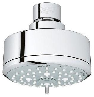"3-15/16"" 2 GPM Chrome Plated 4-Function Showerhead"