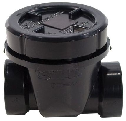 "6"" Socket x Socket 10-3/4"" Top ABS Flapper Type Drain Control Backwater Valve"