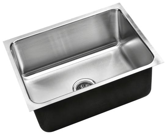 """24"""" x 18"""" Undermount Single Bowl Kitchen Sink - Polished Satin Blended, Stainless Steel"""