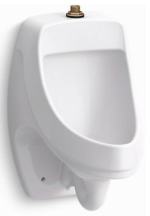 "13-3/4"" x 20-3/4"", Top Spud Inlet x Rear Spud Outlet, 0.125 GPF, White, Vitreous China, Washdown, Urinal"