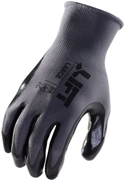 Black Cotton/Polyester Double Extra Large Gloves