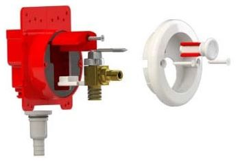 Ice Maker Pull Stop Box Rough-In Kit - Specialty Products / Pull Stop Box / FireStop, with Brass CPVC Ball Valve, High Impact ABS
