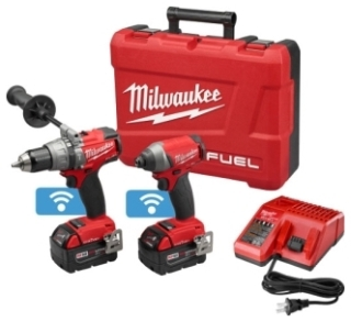 """MIL 2796-22 M18 FUEL 1/2"""" HAMMER DRILL & 1/4"""" IMPACT KIT W/ ONE-KEY BATTERIES & CHARGER ETC"""