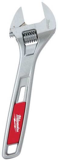 "8"" Adjustable Wrench with Ergonomic Handle - Chrome Plated"