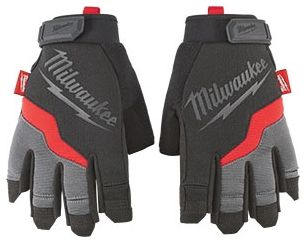 "9.5"" Terry Cloth Reinforced Small Fingerless Work Gloves"