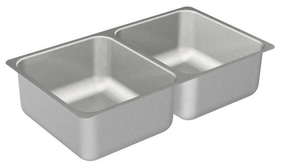 "31-1/4"" x 18"" x 7-1/2"" Undermount Double-Equal Bowl Kitchen Sink - SoundSHIELD, Brushed, Stainless Steel"