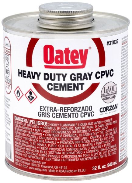 32 Oz Can Gray Heavy Solvent Cement