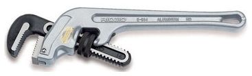 """10"""" 1-1/2"""" Jaw Capacity Aluminum End Heavy Duty Pipe Wrench"""