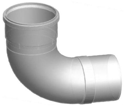 """8"""" x 8"""" Polypropylene 90D Water Heater Vent Elbow"""