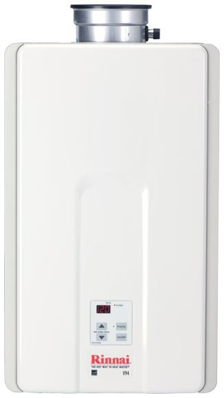 "Tankless Water Heater, 14"" x 9"" x 23"" 10300 to 192000 BTU/HR Concentric Vent Natural Gas Residential/Indoor"