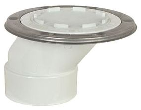 "3"" Hub ABS 1-Piece Offset Drainage System Closet Flange"