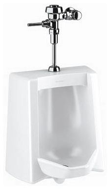 """3/4"""" x 2"""" NPT Top Spud Inlet x Rear Outlet 0.125 GPF Vitreous China Wall Mount Integral Flushing Rim Washout Flush Action Urinal"""