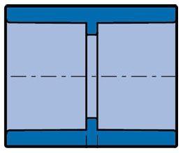 "1"" x 1"" Socket x Socket Blue Injection Molded PVC 80S Straight Coupling"