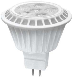 TCPO LED712VMR16V30KFL 7W LED MR16 DIMMABLE 7W 12V 500 LUMENS 3000K, 40-DEGREE, COMPARE TO 50MR16 27008