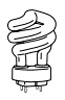 ~TCP-35032-51K 32W 5100K 4-PIN BASE COMPACT FLUORESCENT (CFL) SPIRAL SPRING LAMP