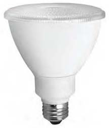 TCP LED12P30D27KFL TCP 12W PAR30L 2700K 850 LUMEN DIMMABLE 40DEG LED LAMP