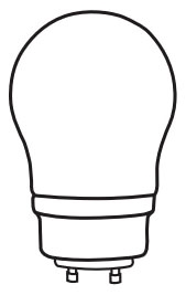 tcp 33109A19 TCP 9W A LAMP GU 24 BASE