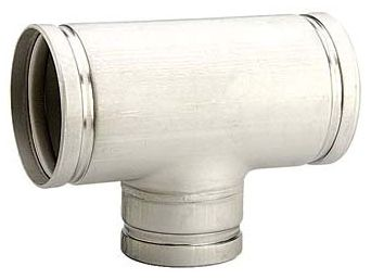 "4"" x 4"" x 3"" Grooved x Grooved x Grooved 304 Stainless Steel 10S Import Reducing Tee"