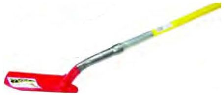 "5"" Red Fiberglass Handle Trench Shovel"
