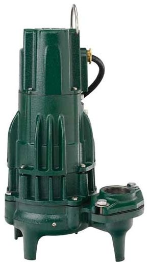"115 VAC 1-Phase 15 A 1/2 HP 3450 RPM 20' Cord 2"" or 3"" FPT Outlet Epoxy Powder Coated Cast Iron Submersible Sewage Pump"