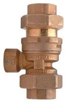 "1/2"" FPT Union x FPT Union Forged Brass Dual Check Backflow Preventer"