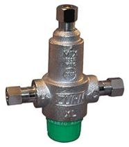 "3/8"" Compression x Compression x Compression Nickel Plated Cast Bronze 3-Port Thermostatic Mixing Valve"