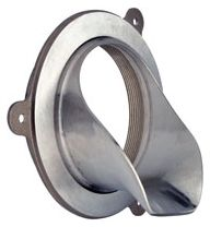 """4"""" Polished Nickel Bronze No Hub Roof Drain Downspout Nozzle"""