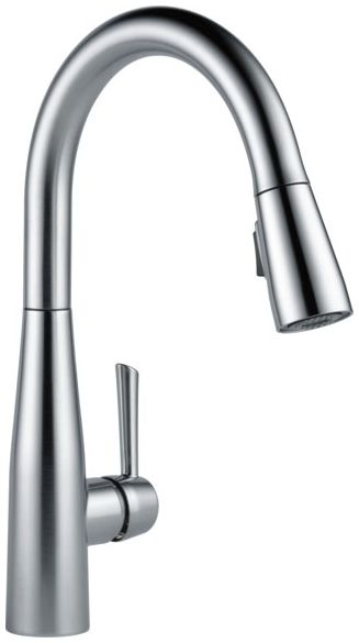 "14-1/2"" H x 9-5/32"" Clearance x 6-5/8"" Reach, 1.8 GPM at 60 PSI, Arctic Stainless Steel, 1-Lever Handle, High Arc, Pull Down, 360D Swivel, Deck Mount, Kitchen Faucet"