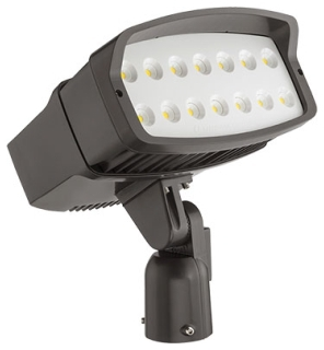 lit OFL2LED-P2-40K-MVOLT-IS-DDBXD LIT LED FLOOD 4000K 12 281 LUMEN SLIPFITTER MOUNT 120-277V